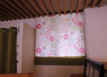 ▲なんと高窓のカーテンもおそろい!