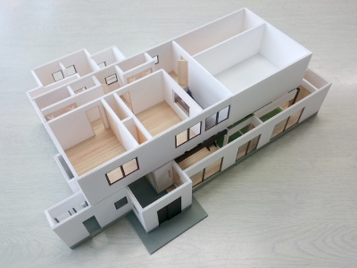 古民家リフォーム提案模型イメージ3