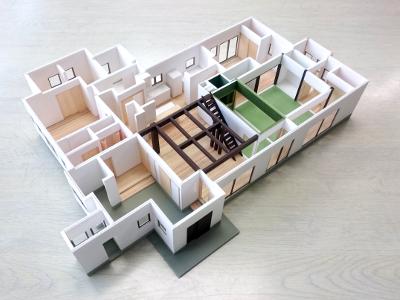 古民家リフォーム提案模型イメージ4